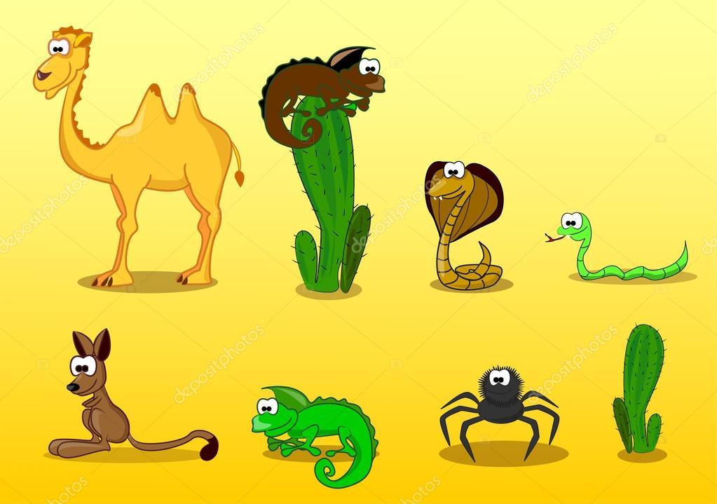 In The Desert clipart desert animal Including Stock by Vector snake