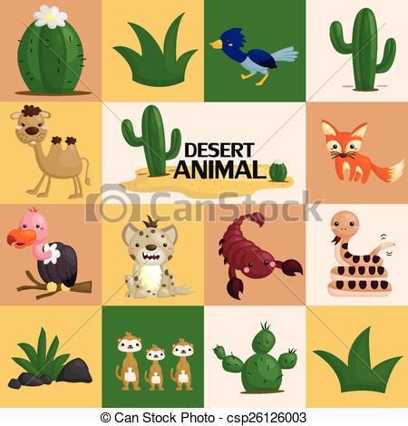 In The Desert clipart desert animal Desert csp26119517 of Vector Clip