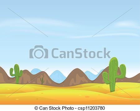 In The Desert clipart desert background Background of cartoon Vector Background