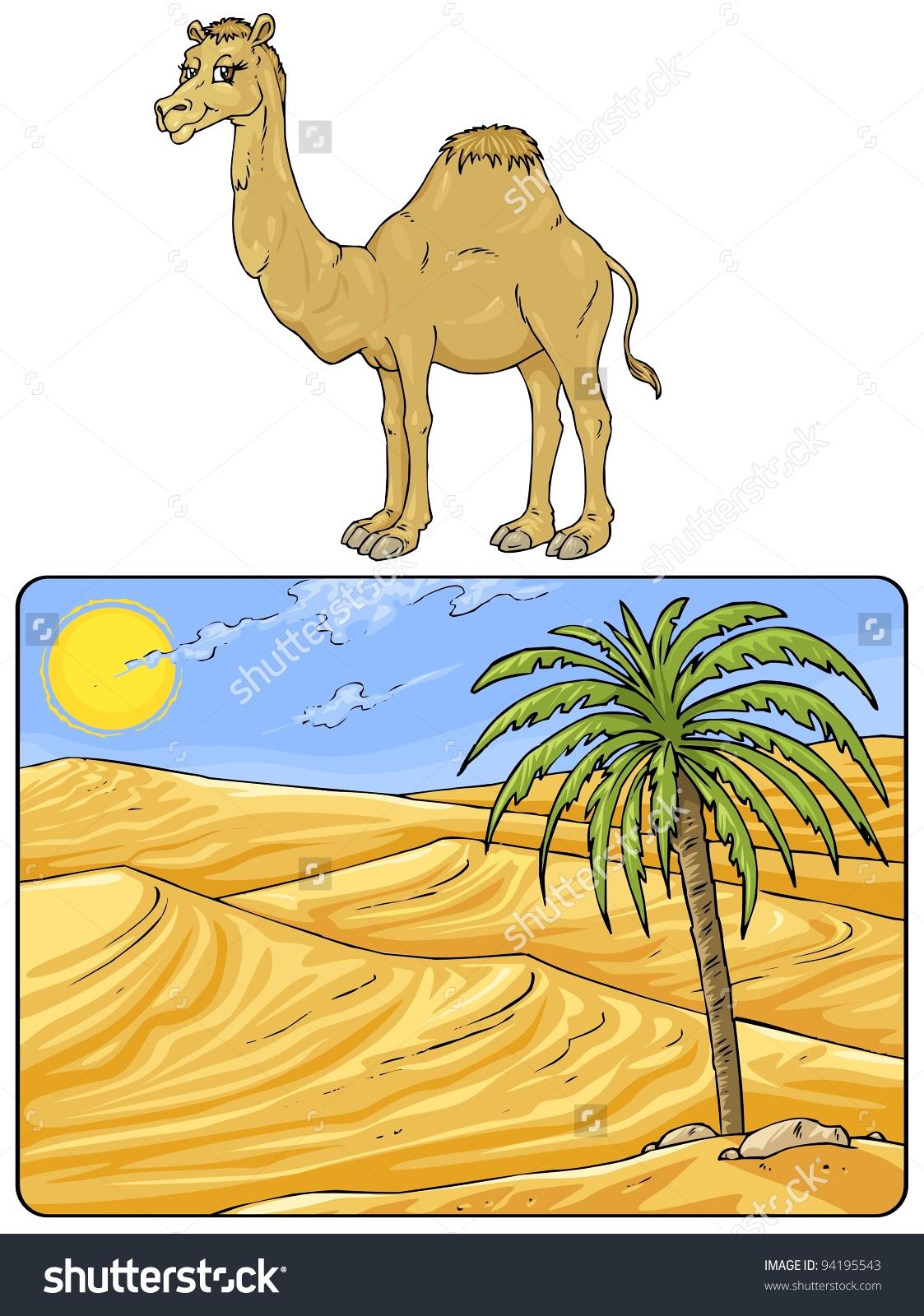 In The Desert clipart desert camel Landscape – Desert Landscape Art