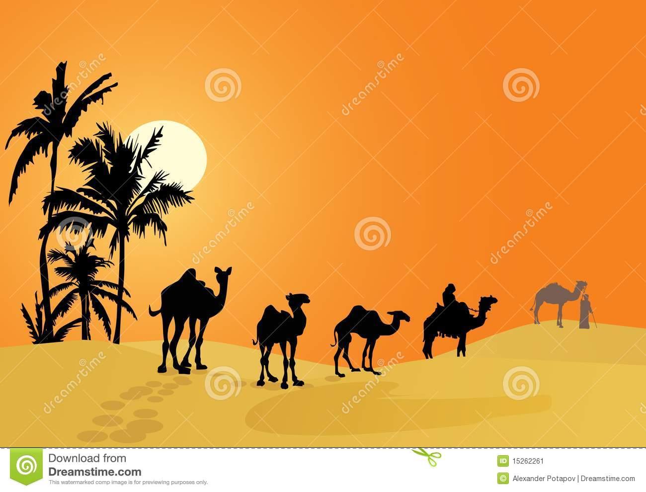 In The Desert clipart desert camel Clipart desert drawings Download clipart