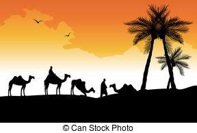 In The Desert clipart desert caravan Vector 634 silhouette Illustrations Clip