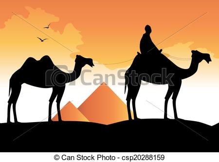 Camel Caravan clipart desert scene Desert Art Clip Desert Clip