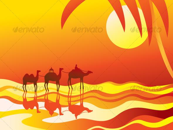 In The Desert clipart desert caravan Desert free desert art travel