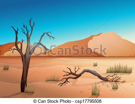 In The Desert clipart desert ecosystem Csp17795508 Vector a Clipart