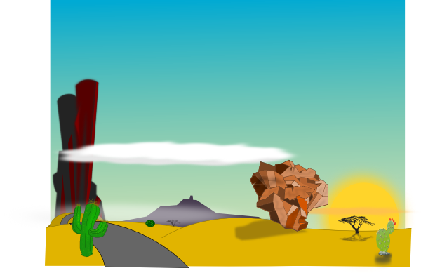 In The Desert clipart desert landscape Clip as: Art Cartoon com