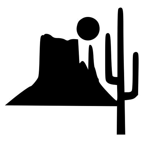 In The Desert clipart desert mountain Bumper Mountain Phone Cactus Cactus