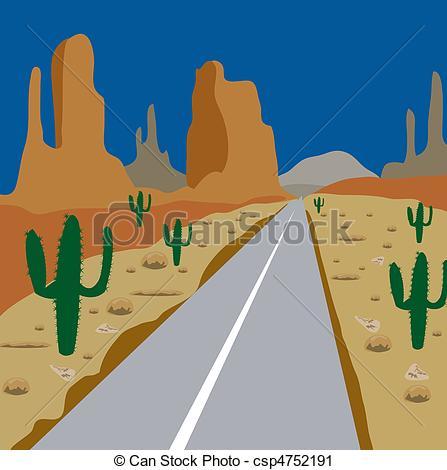 In The Desert clipart desert sand Road sand and amongst desert