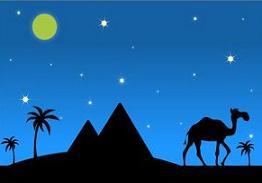In The Desert clipart desert scene Desert Clipart night Free camels