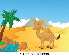 In The Desert clipart desert scene Animals Art Desert of Vector