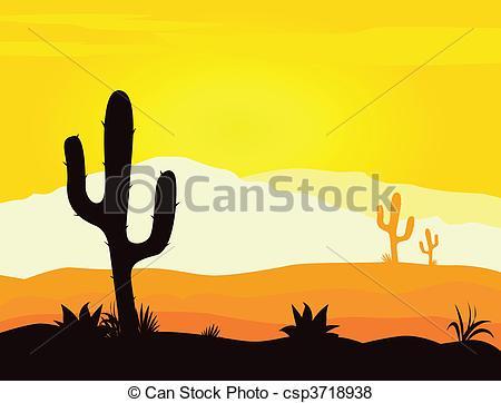 In The Desert clipart desert scene With Vector scene weeds