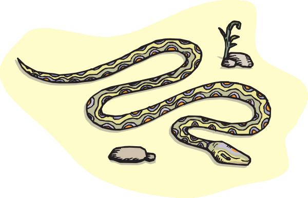 In The Desert clipart desert snake Download Clker at Snake Desert