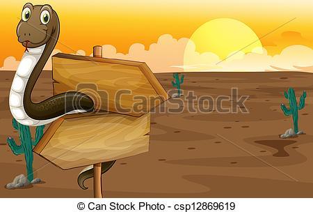 In The Desert clipart desert snake Snake of Art near csp12869619