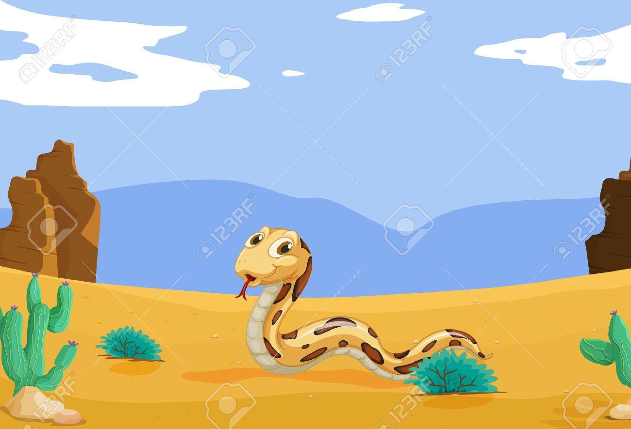 In The Desert clipart desert snake Desert #5904 Clipart Snake art