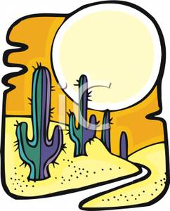 In The Desert clipart desert sun A Large Sun Clipart Sun