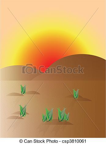 In The Desert clipart desert sun Background background Art Vector illustraion