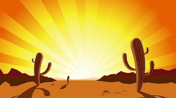 In The Desert clipart desert sunset Desert Sunset Free cactus in