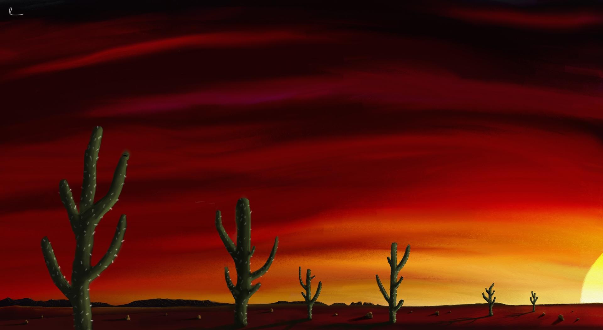In The Desert clipart desert sunset Sunset Sunset by by on
