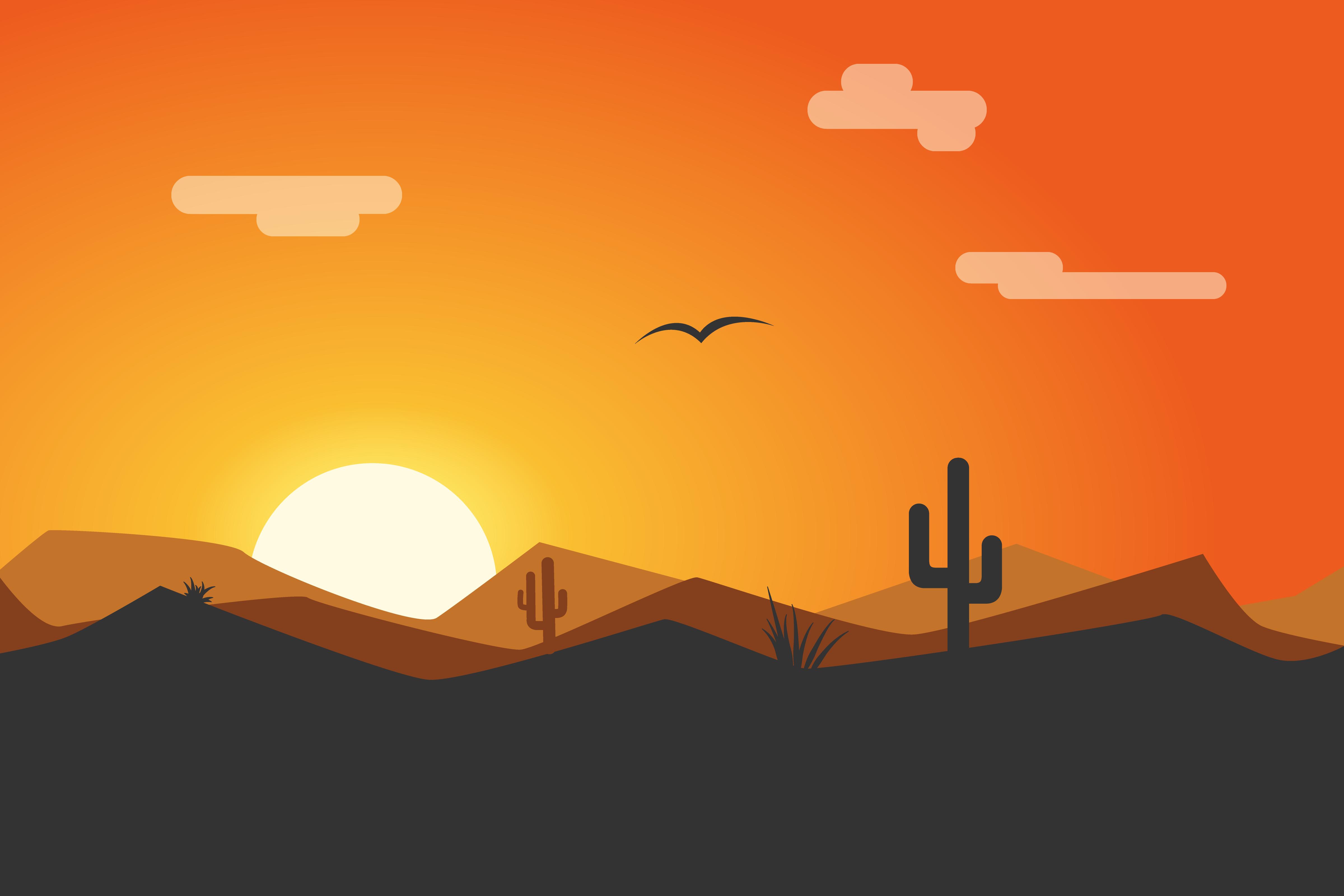 In The Desert clipart desert sunset Sunset png Dribbble Thomson Desert