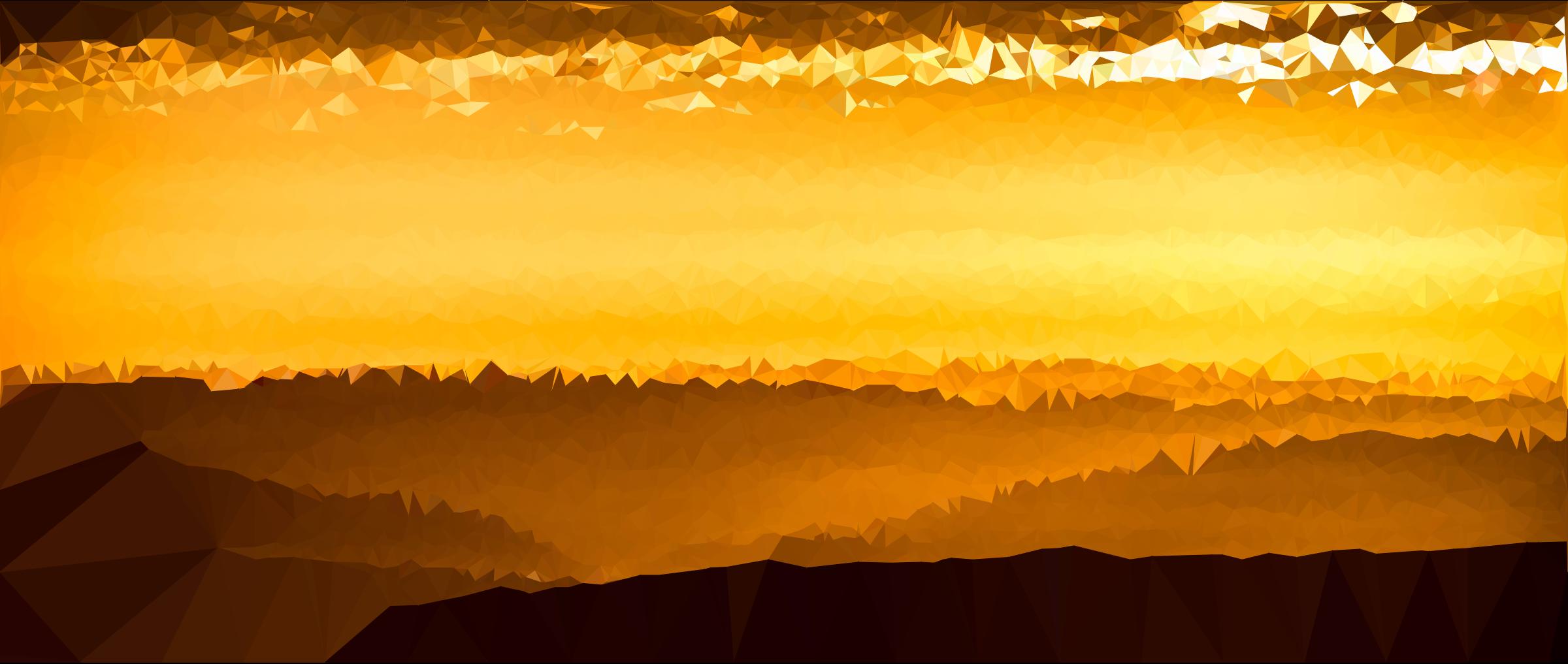 In The Desert clipart desert sunset Poly Low Desert Sunset Low