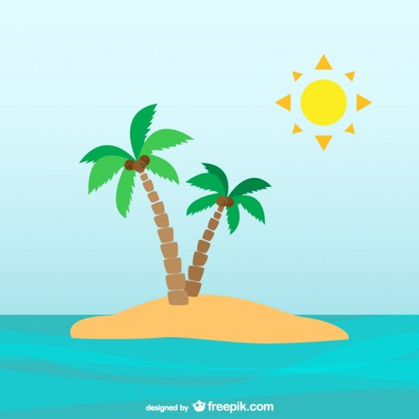 Palm Tree clipart deserted island Desert island Cliparts Clipart Zone