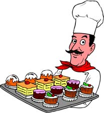 In The Desert clipart dessert tray Proud tray Bakers Clipart of