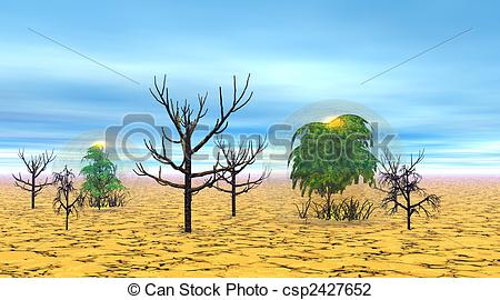 In The Desert clipart dry desert Alive trees a  little