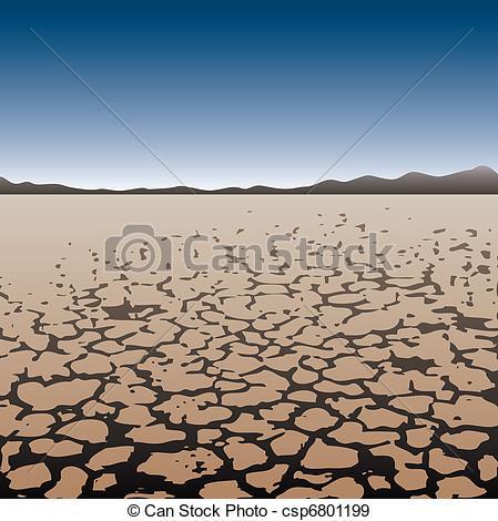 In The Desert clipart dry desert Desert vector in dry dry