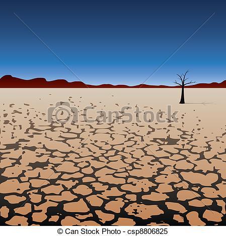 In The Desert clipart dry desert In Vector tree of vector