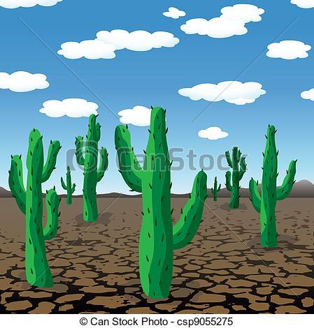 In The Desert clipart dry desert Dry of in vector vector