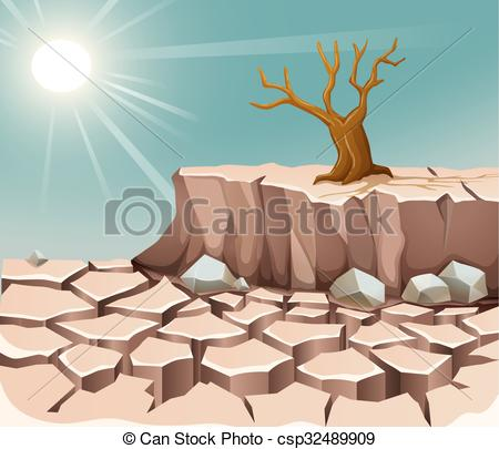In The Desert clipart dry land Land sun scene and land