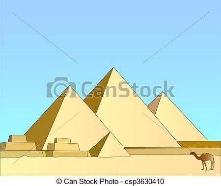 In The Desert clipart egyptian pyramid Group the against csp3630410 blue
