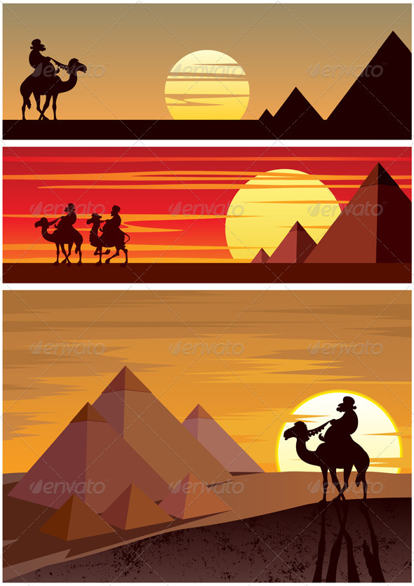In The Desert clipart egyptian pyramid The Pyramids The 3 Background
