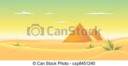 In The Desert clipart egyptian pyramid Of  of Illustration csp8451240