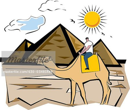 In The Desert clipart egyptian pyramid Cairo Stock on pyramid