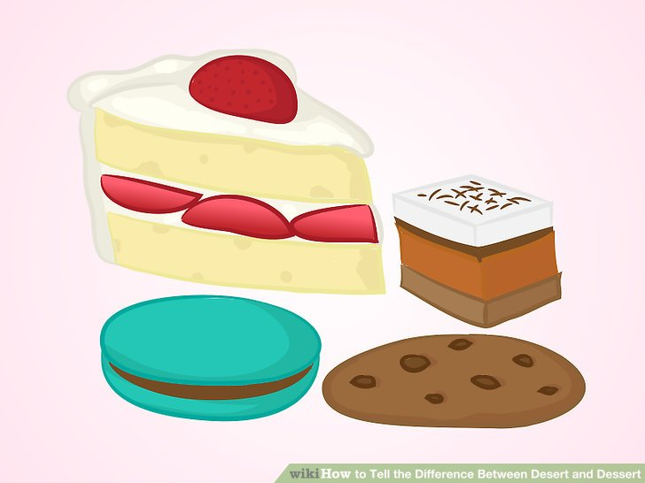 In The Desert clipart food item Tell Difference the Dessert Steps
