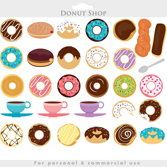 In The Desert clipart food item Donuts doughnut chocolate Donuts clip
