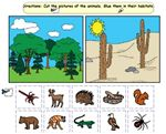 In The Desert clipart forest habitat And kids students Printables: animals
