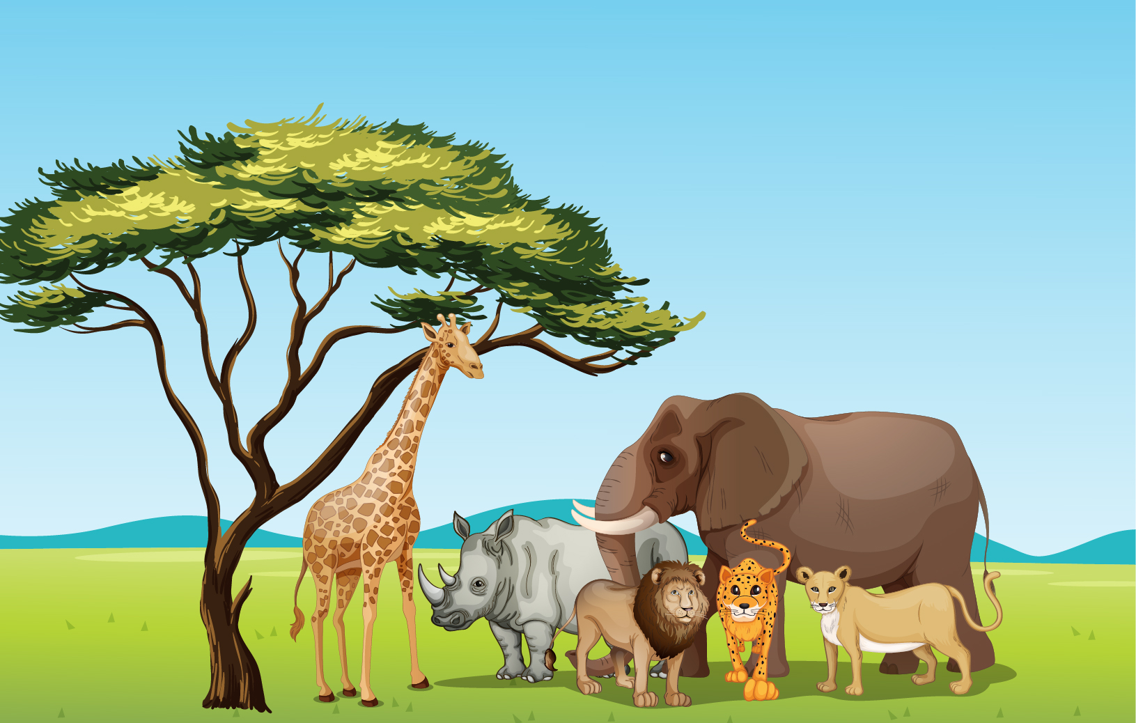 In The Desert clipart grassland habitat Of  Art pages Free