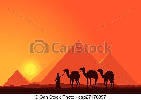 In The Desert clipart great pyramid On csp27178857 on Pyramids sunset