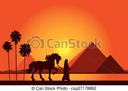 In The Desert clipart great pyramid Bedouin on with Pyramids and