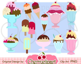 In The Desert clipart ice cream cup Use paper clipart Sundae Digital