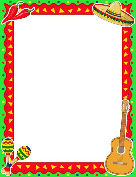 Wild West clipart mexican border Border Cliparts Download fiesta Free