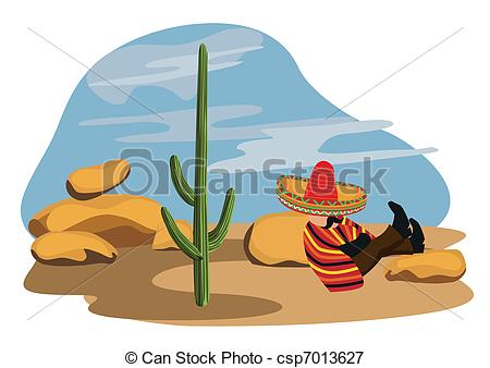 In The Desert clipart mexicano Napping in Vectors in desert