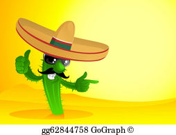 In The Desert clipart mexicano Cactus Mexican with Cartoon in