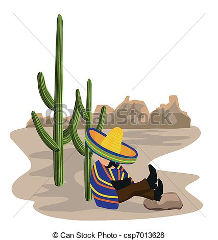 In The Desert clipart mexicano Napping in Vector the A