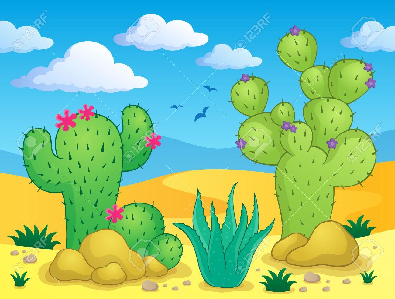 In The Desert clipart nopal Free Images Desert Clipartwork Desert