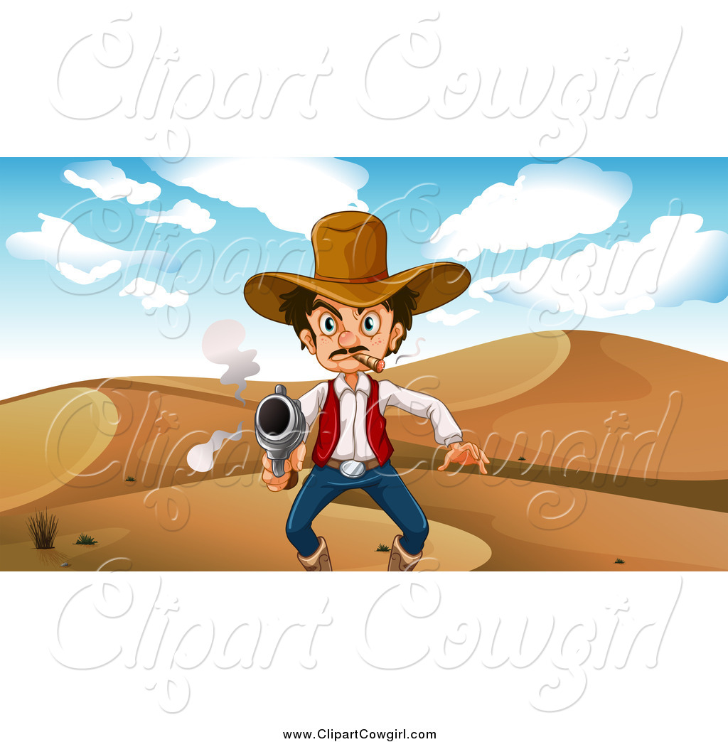 In The Desert clipart old west Cowboy Desert a West the