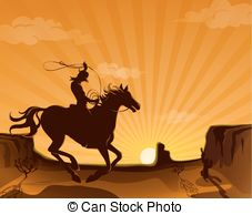 In The Desert clipart old west Vector Landscape  american old