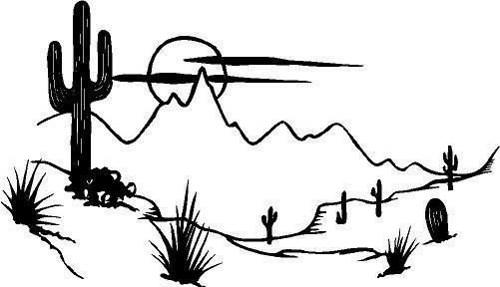 In The Desert clipart outline Cactus  Die Die Scene